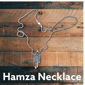 Jewelry - Hand of Fatima Hamsa Sterling Silver Necklace